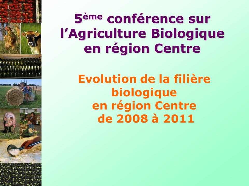 Evolution de la filière biologique en région Centre de 2008 à 2011