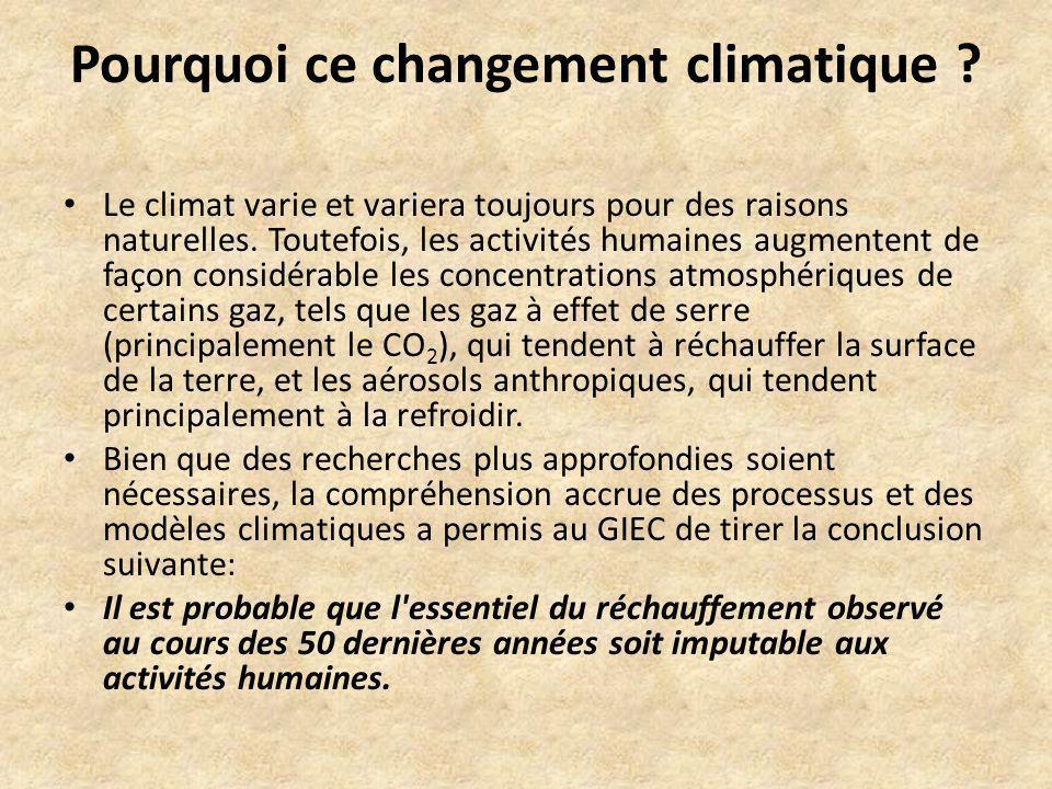Pourquoi ce changement climatique
