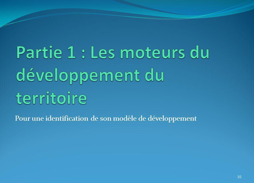 Partie 1 : Les moteurs du développement du territoire