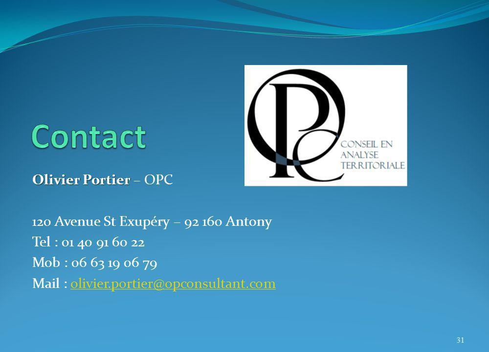 Contact Olivier Portier – OPC 120 Avenue St Exupéry – 92 160 Antony