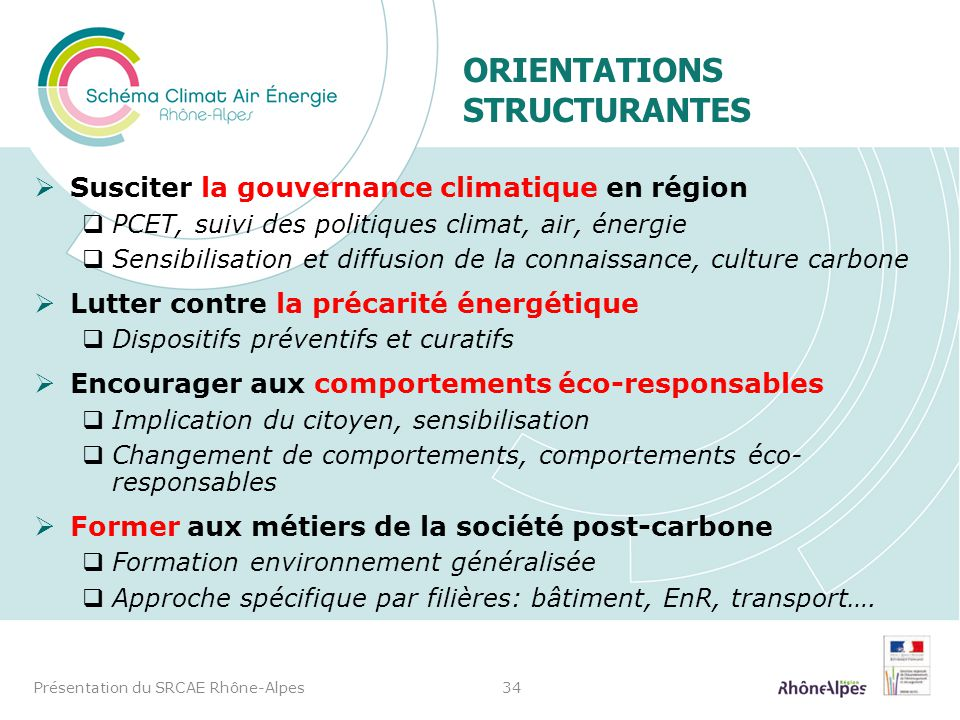 Orientations structurantes