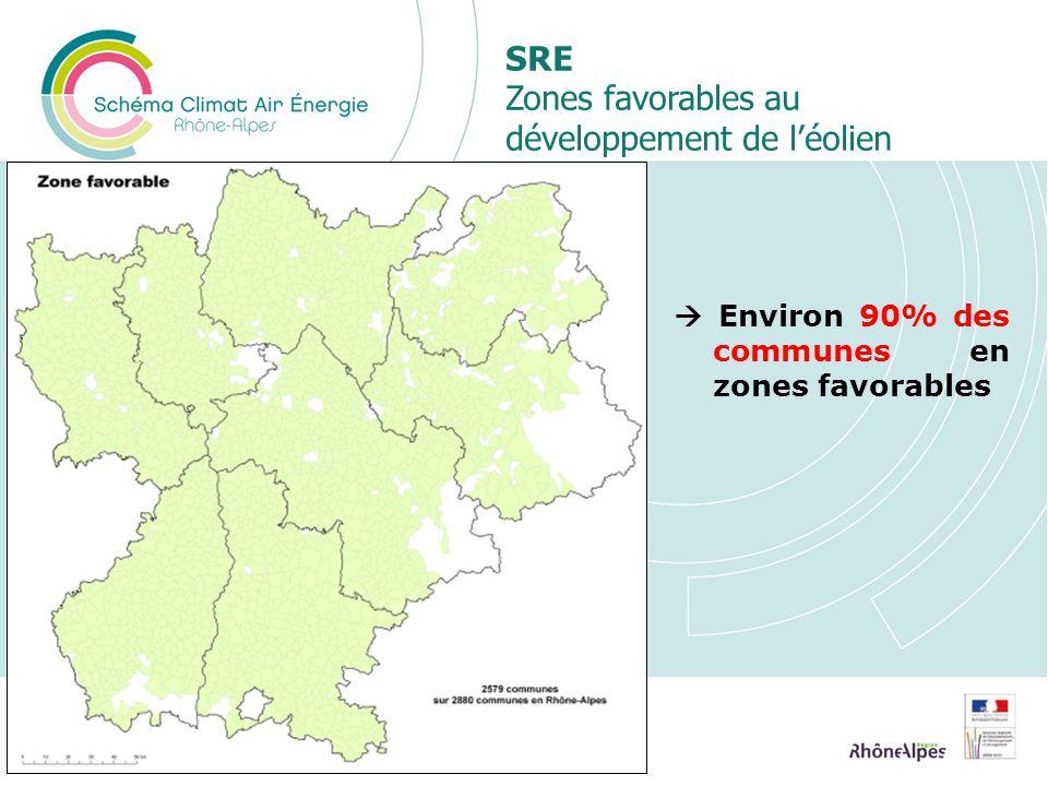 SRE Zones favorables au développement de l'éolien