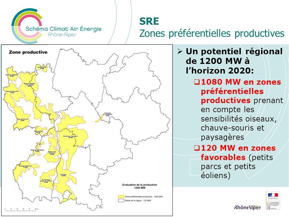 SRE Zones préférentielles productives