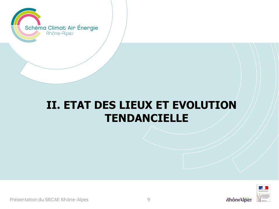 II. ETAT DES LIEUX ET EVOLUTION TENDANCIELLE