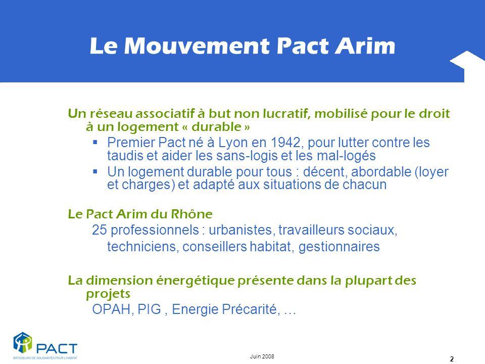 Le Mouvement Pact Arim Un réseau associatif à but non lucratif, mobilisé pour le droit à un logement « durable »