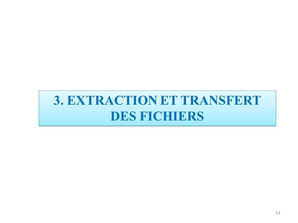 3. EXTRACTION ET TRANSFERT DES FICHIERS