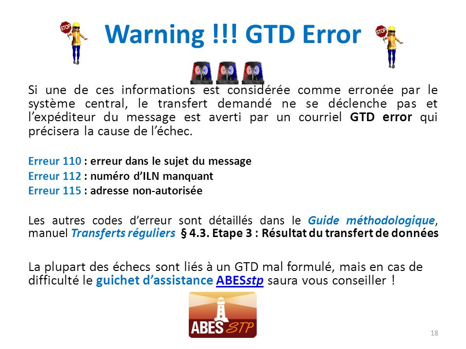 Warning !!! GTD Error