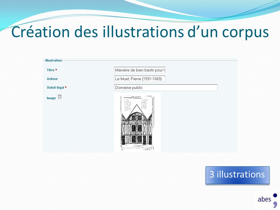 Création des illustrations d'un corpus