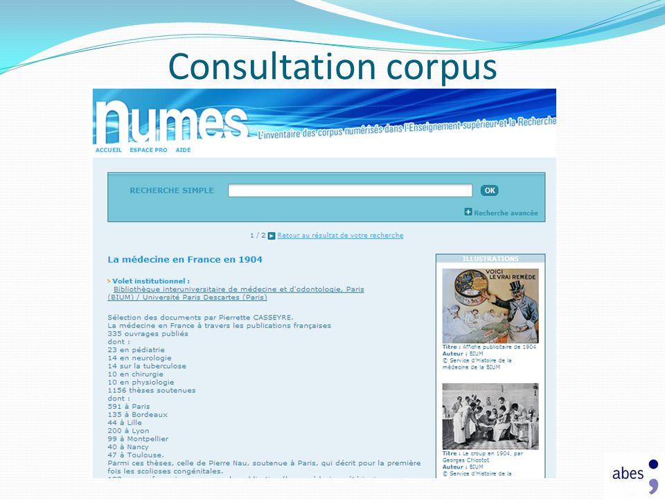 Consultation corpus