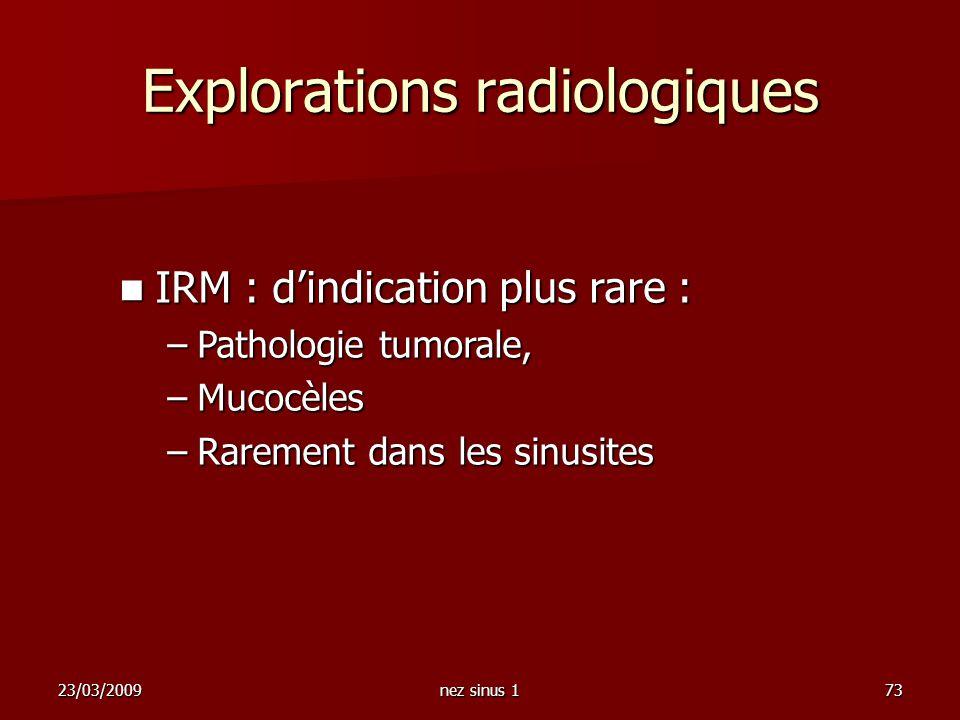Explorations radiologiques