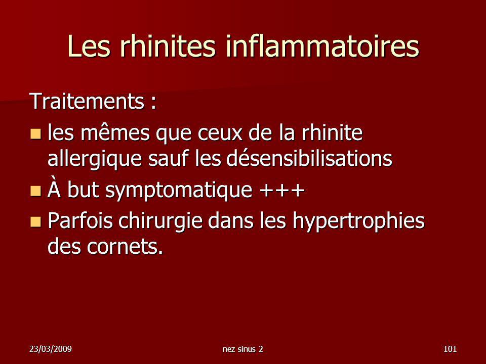 Les rhinites inflammatoires