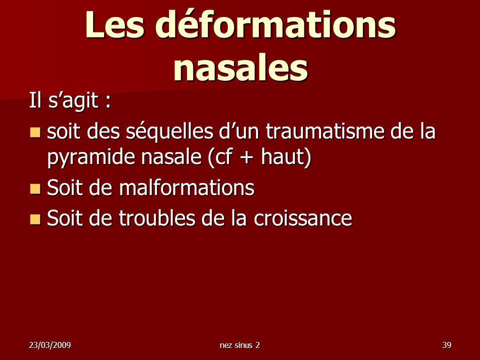 Les déformations nasales