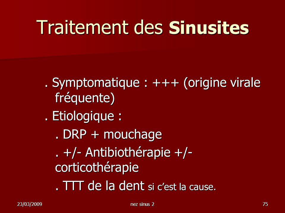Traitement des Sinusites