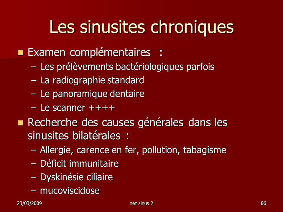 Les sinusites chroniques