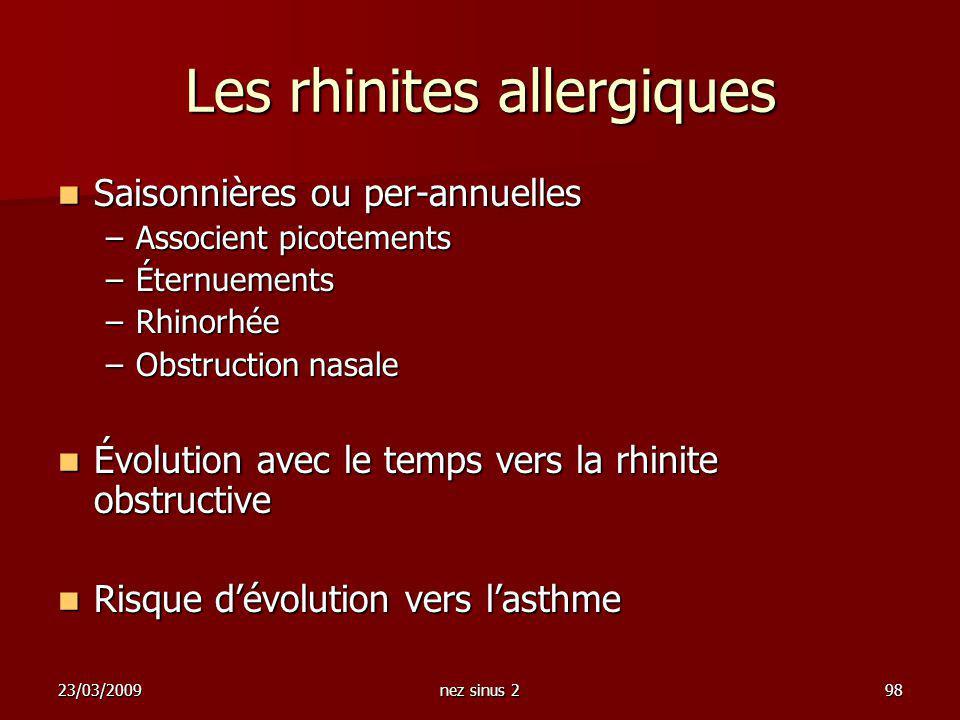 Les rhinites allergiques