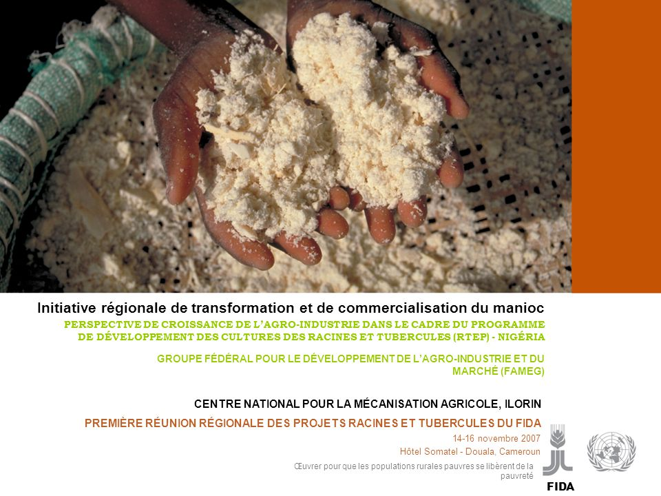Initiative régionale de transformation et de commercialisation du manioc