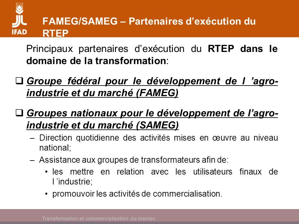 FAMEG/SAMEG – Partenaires d'exécution du RTEP