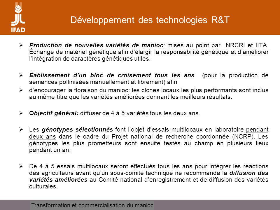 Développement des technologies R&T