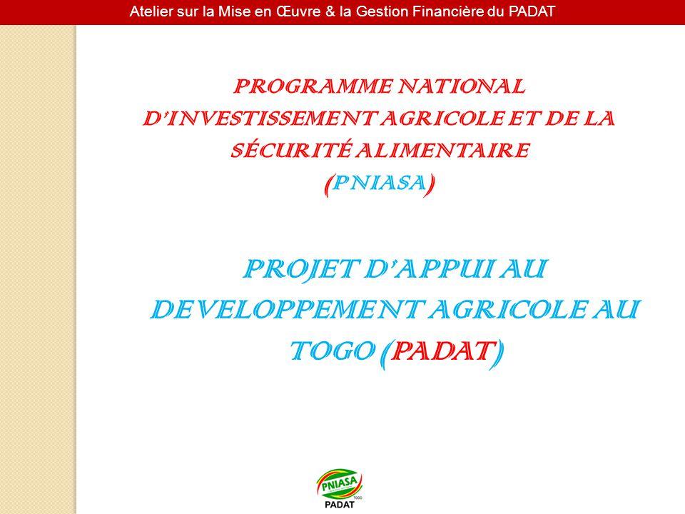 PROJET D'APPUI AU DEVELOPPEMENT AGRICOLE AU TOGO (PADAT)