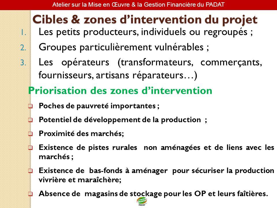 Cibles & zones d'intervention du projet