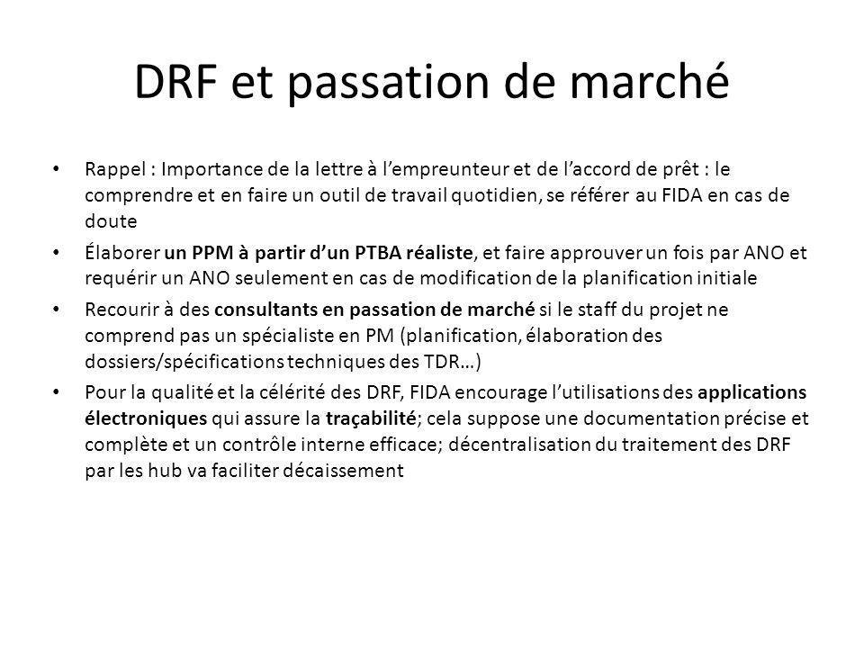 DRF et passation de marché