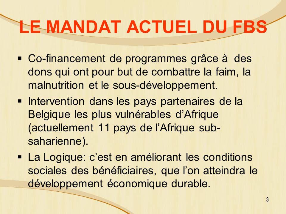 LE MANDAT ACTUEL DU FBS