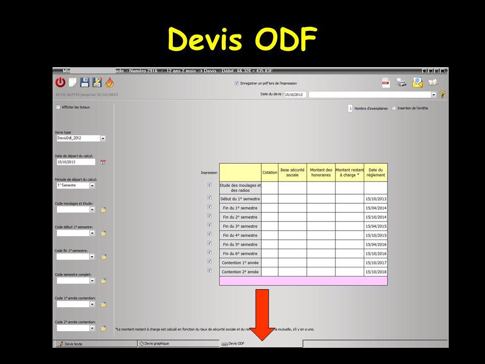Devis ODF