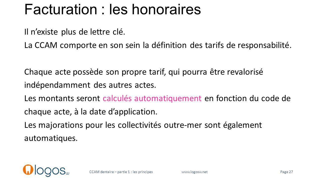 Facturation : les honoraires