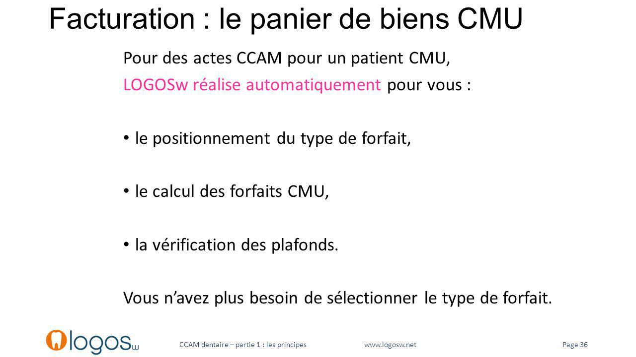 Facturation : le panier de biens CMU