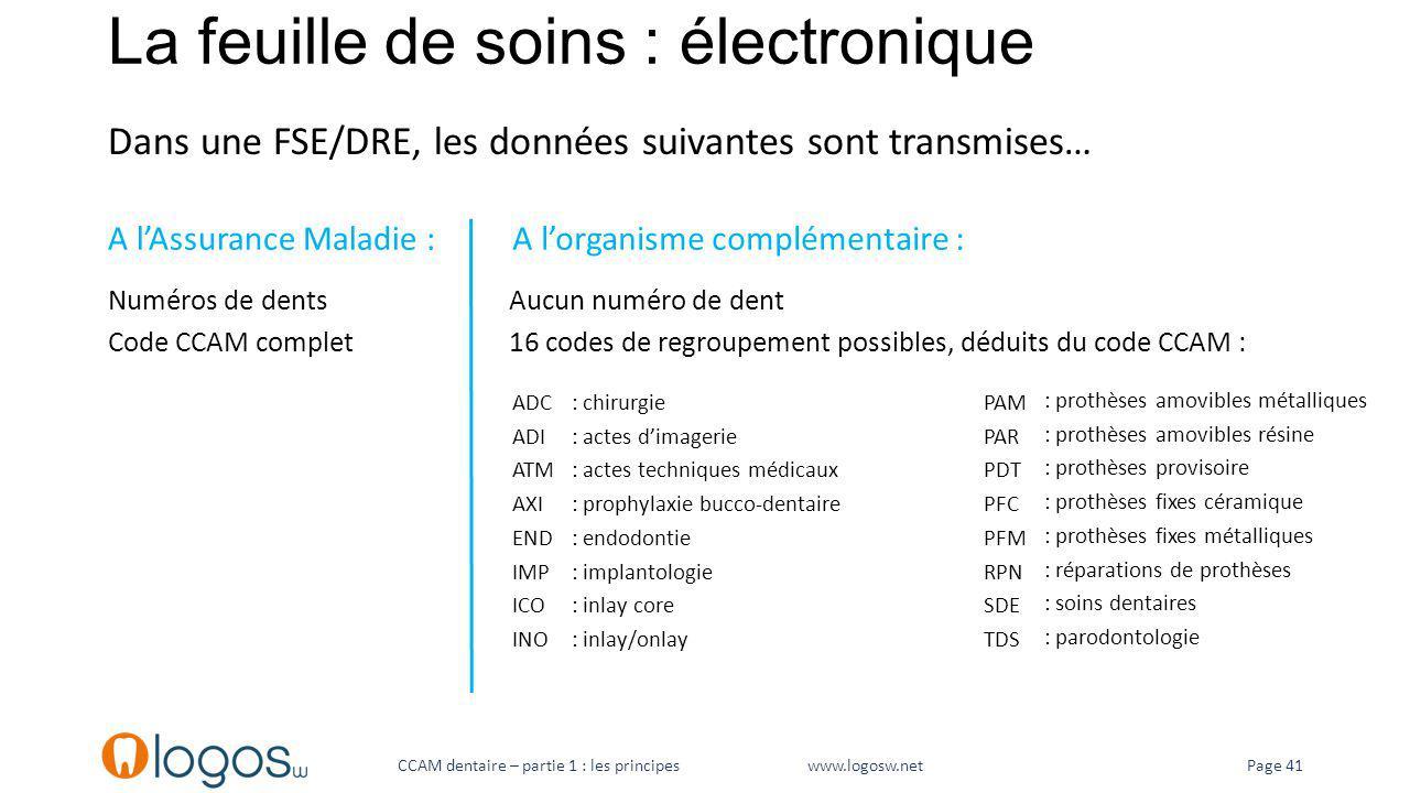 La feuille de soins : électronique