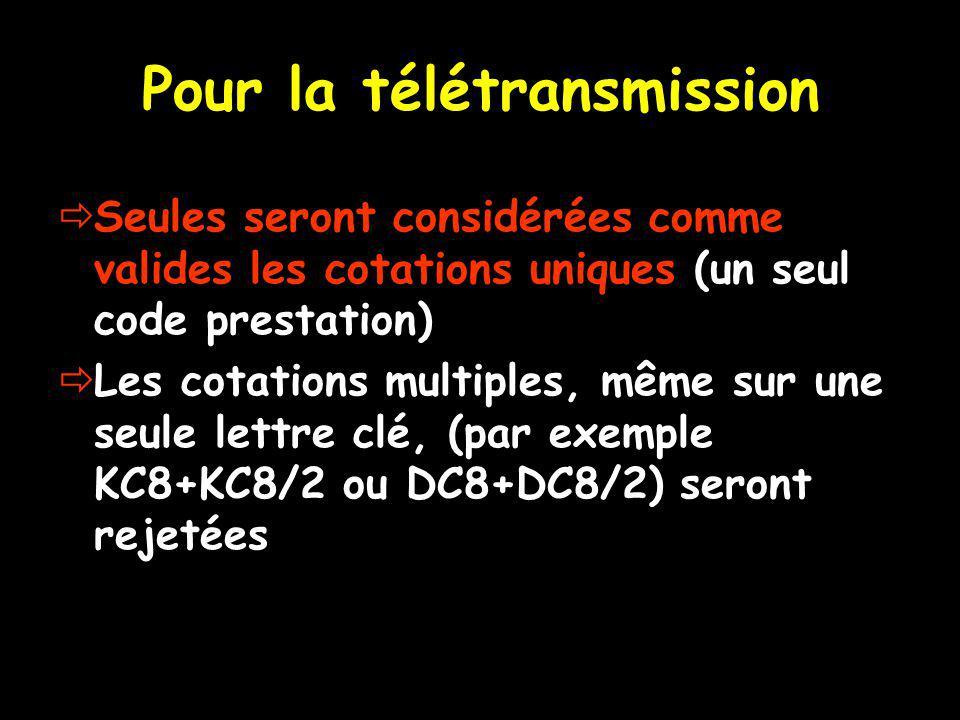 Pour la télétransmission
