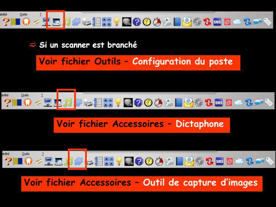 Voir fichier Outils – Configuration du poste