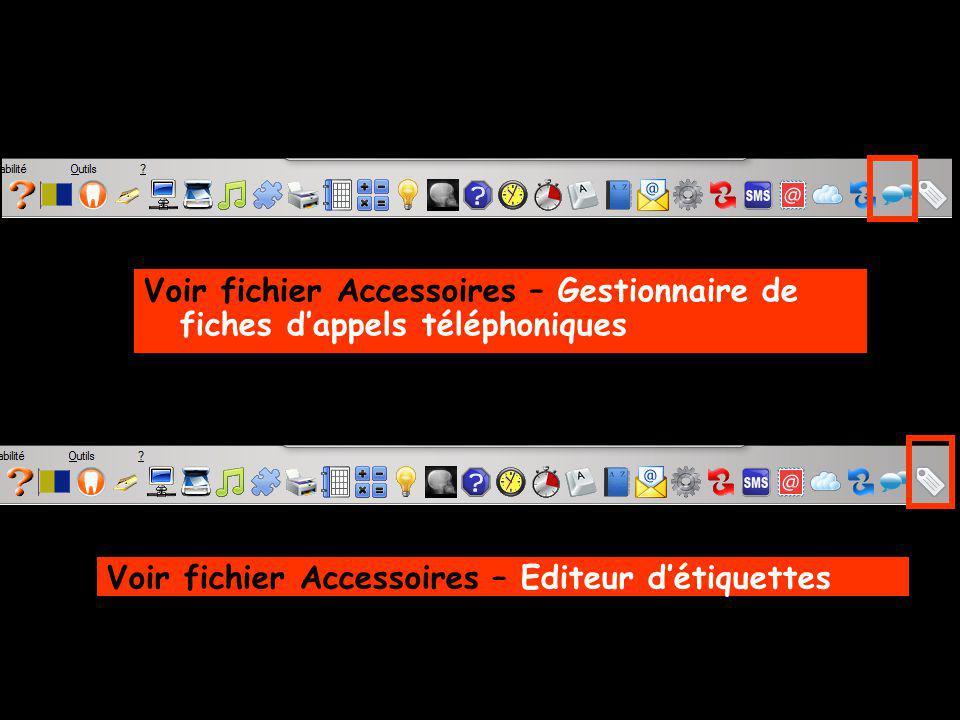 Voir fichier Accessoires – Gestionnaire de fiches d'appels téléphoniques
