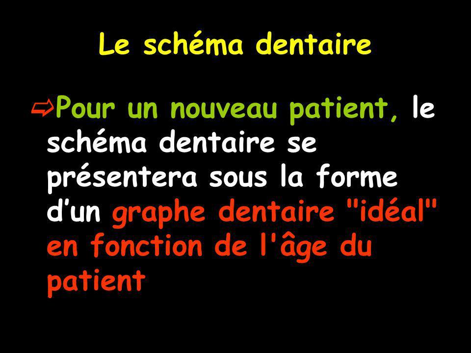 Le schéma dentaire