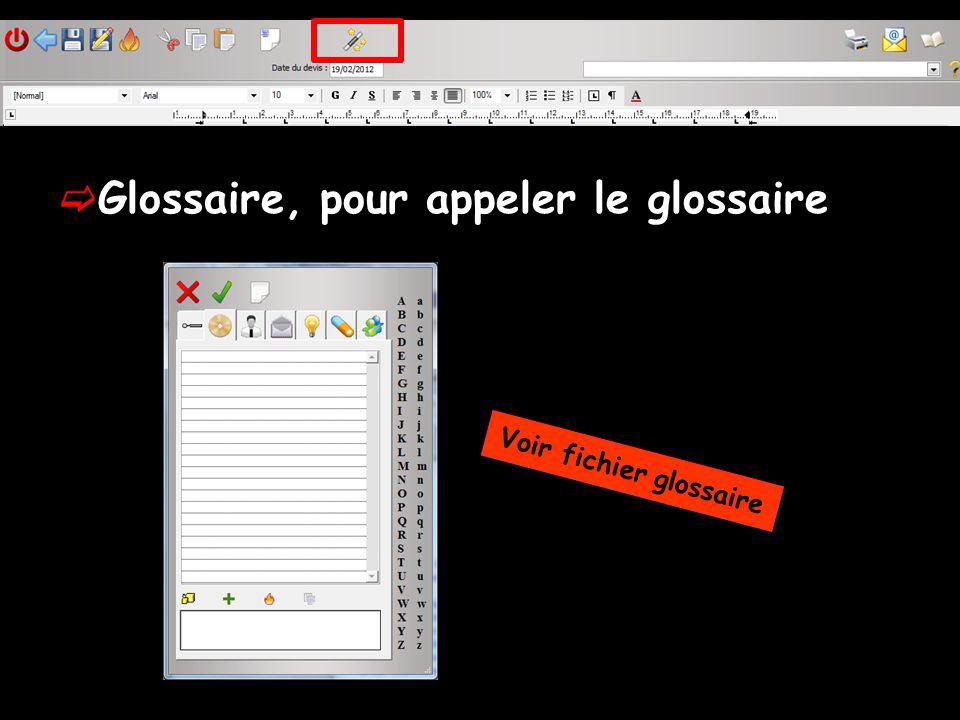 Voir fichier glossaire