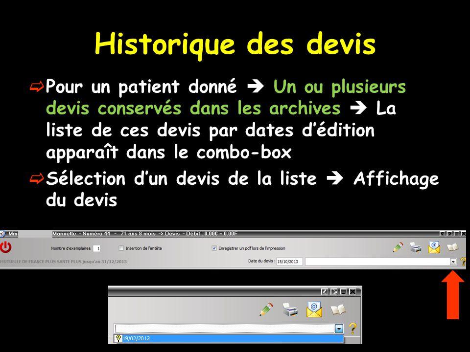 Historique des devis