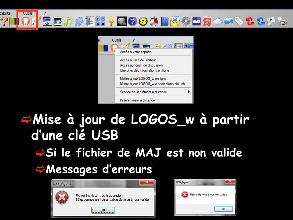 Mise à jour de LOGOS_w à partir d'une clé USB