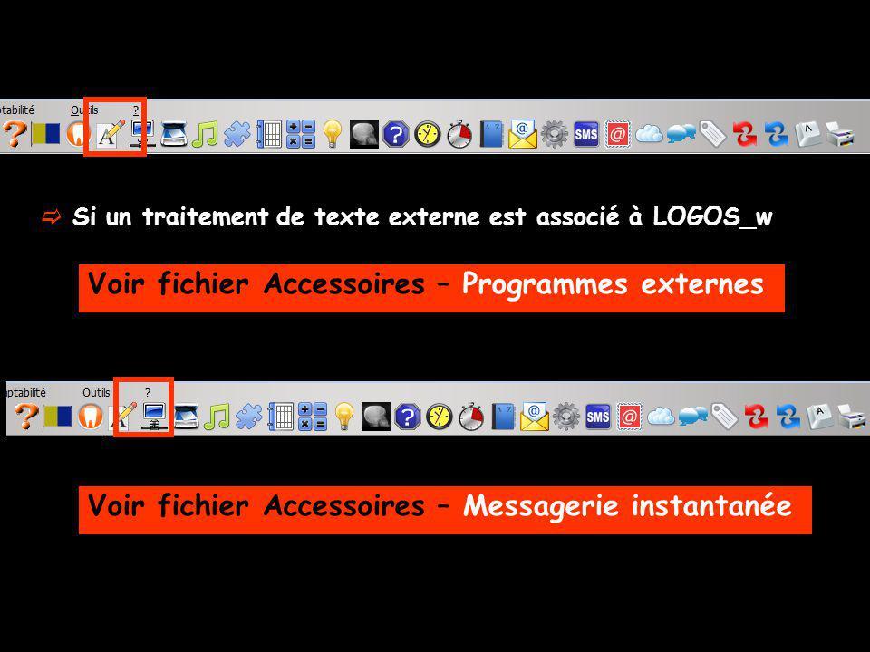Voir fichier Accessoires – Programmes externes