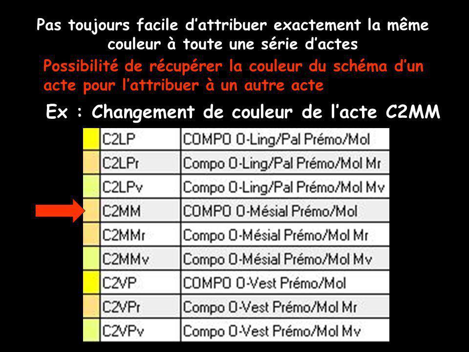 Ex : Changement de couleur de l'acte C2MM