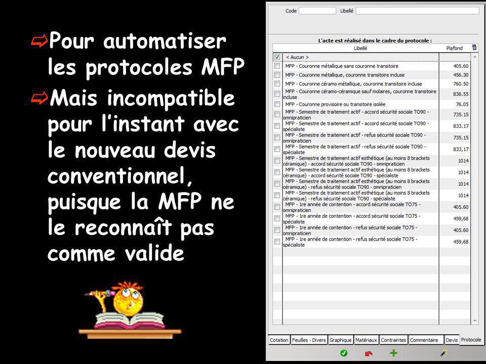 Pour automatiser les protocoles MFP