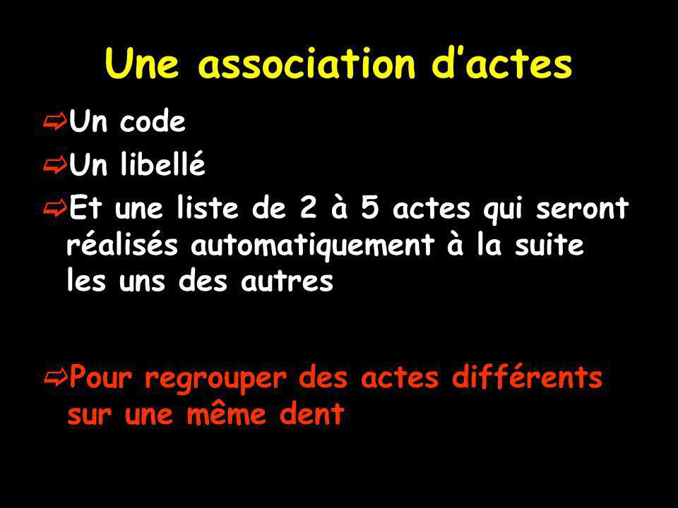 Une association d'actes