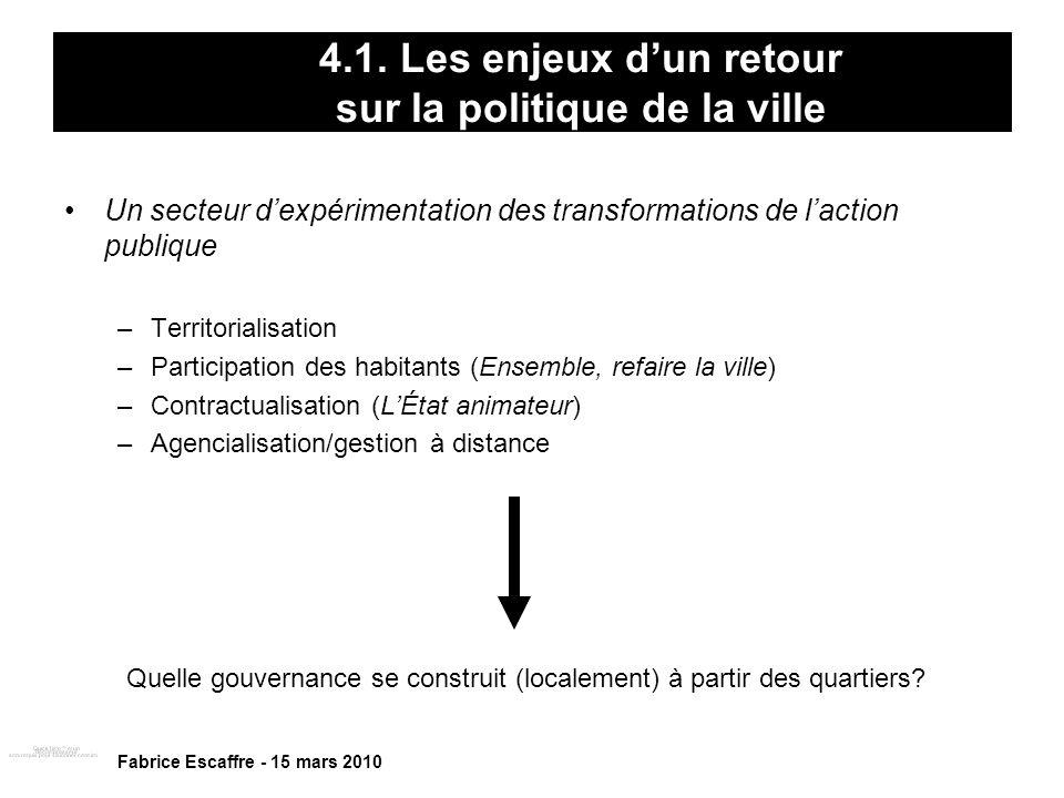 4.1. Les enjeux d'un retour sur la politique de la ville