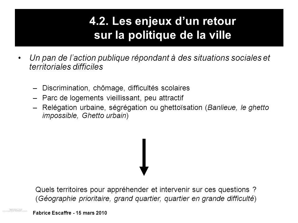 4.2. Les enjeux d'un retour sur la politique de la ville