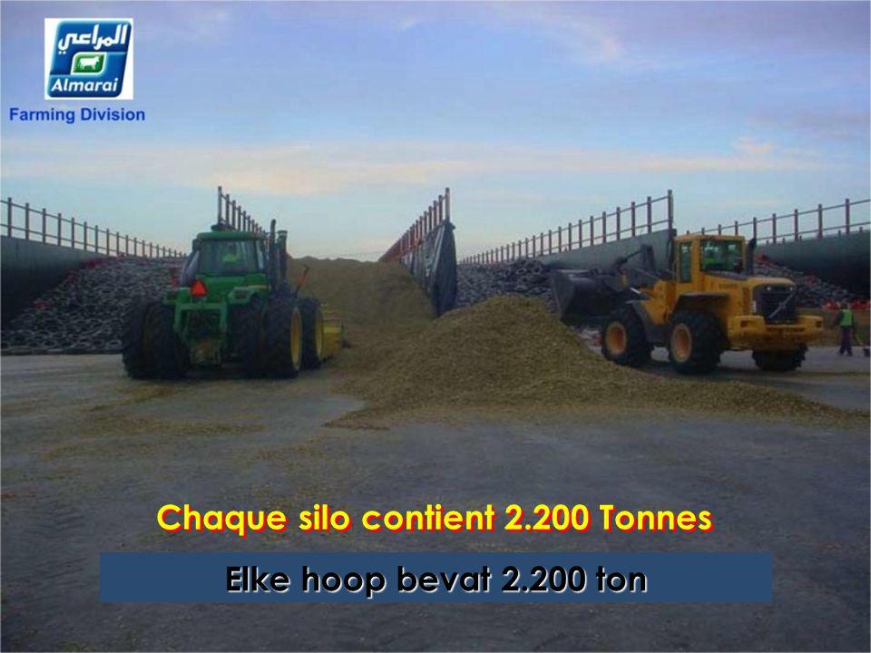 Chaque silo contient 2.200 Tonnes