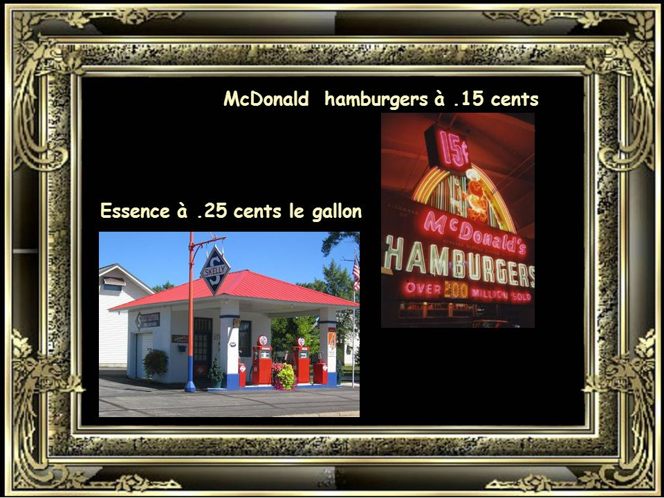 McDonald hamburgers à .15 cents