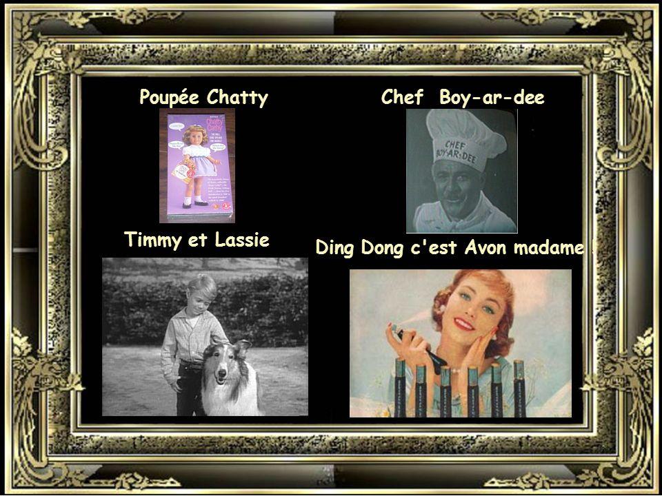 Poupée Chatty Chef Boy-ar-dee Timmy et Lassie Ding Dong c est Avon madame !