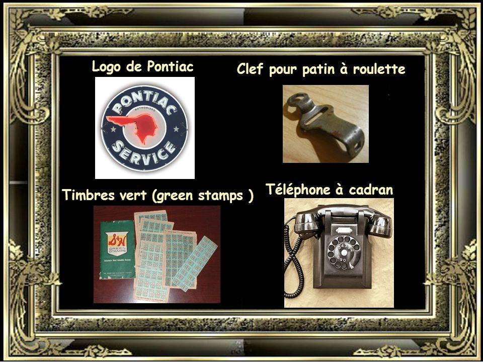 Logo de Pontiac Clef pour patin à roulette Téléphone à cadran Timbres vert (green stamps )