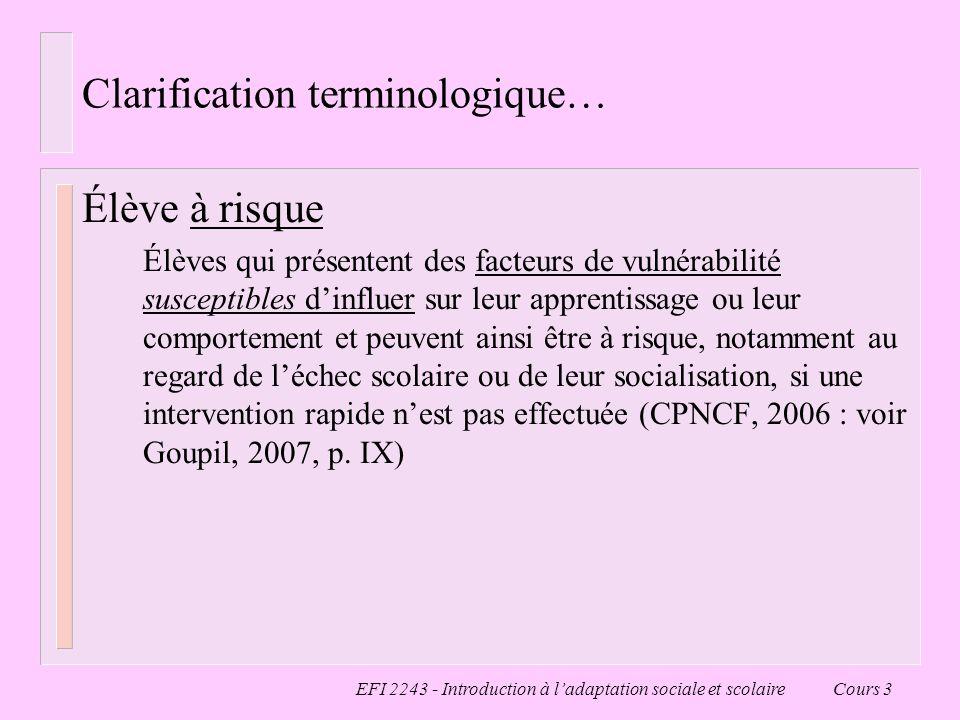 Clarification terminologique…
