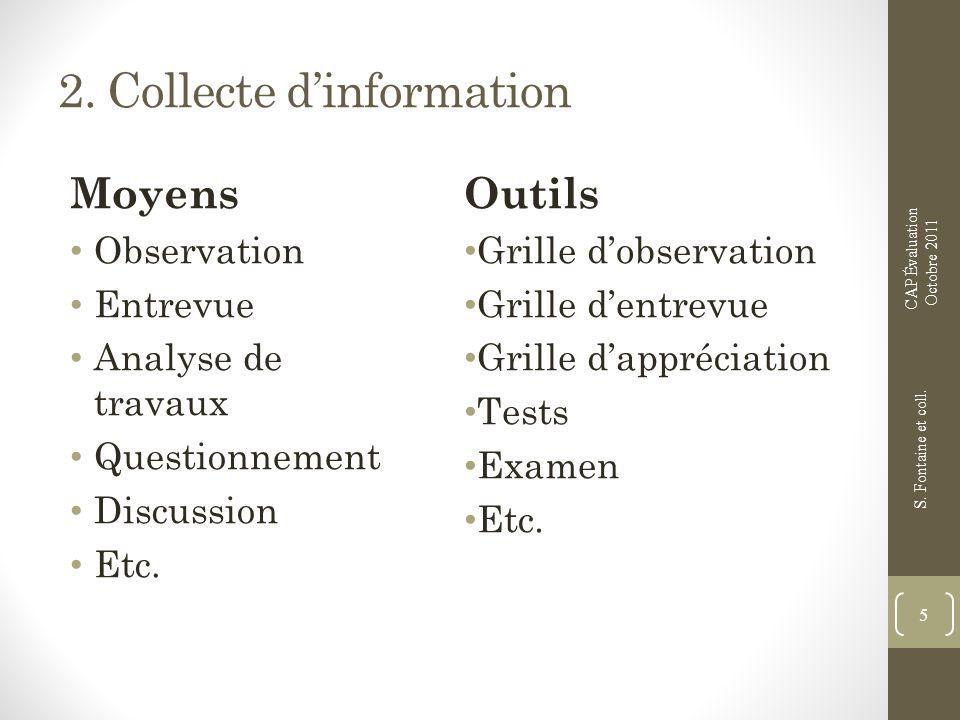 2. Collecte d'information