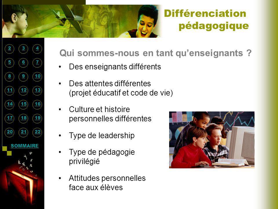 Différenciation pédagogique Qui sommes-nous en tant qu'enseignants